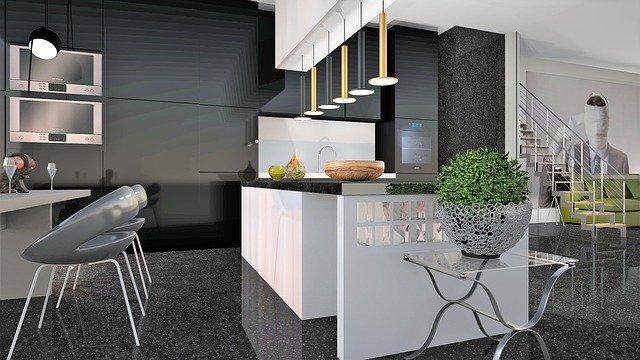mramorová luxusní kuchyně
