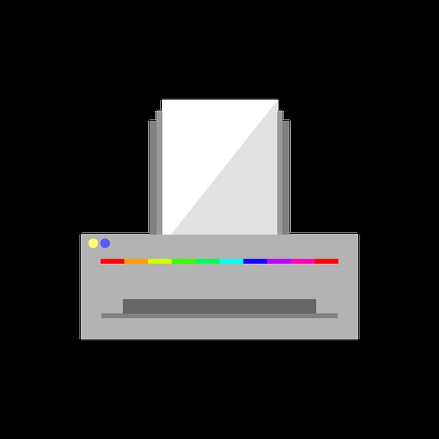 tiskárna, barvy, papír