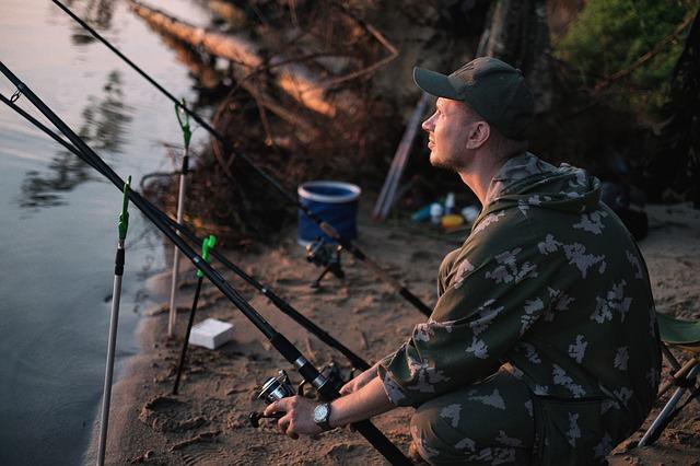 rybář s pruty