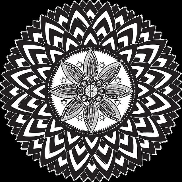 květiny mandaly