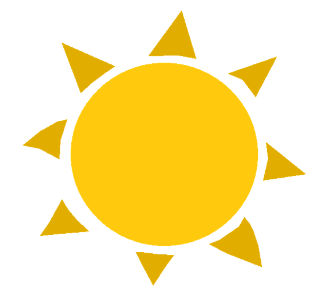horoucí slunce