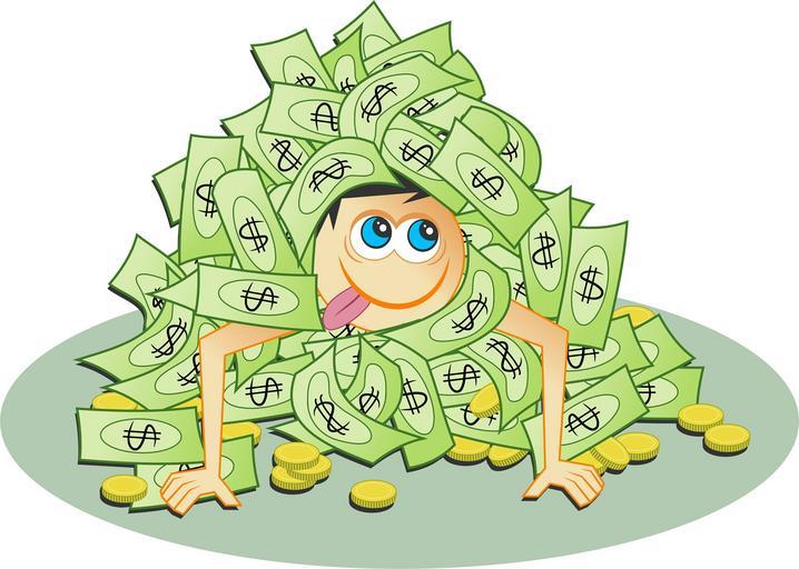 spokojený člověk s penězi